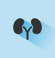kidneys icon with shade on blue background vector image vector image