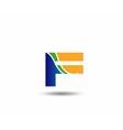 Letter F logo icon design template vector image