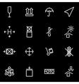 line marking cargo icon set vector image vector image