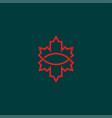 maple leaf logo vector image