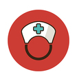 Nurse flat icon Medical vector image