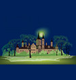 old house at night park landscape ancient castle vector image