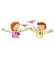 open heart cartoon character for Valentines Day vector image vector image