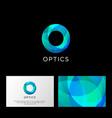 Optics logo o letter monogram violet