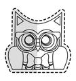 owl cartoon icon vector image vector image