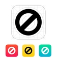 Prohibited icon vector image