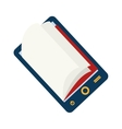 reader electronic book icon graphic vector image