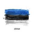 realistic watercolor painting flag estonia vector image vector image