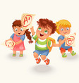schoolchildren and marks icons set vector image