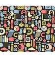 Seamless pattern with media icons vector image