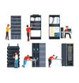 servers digital information storage internet vector image