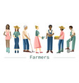 set farmer people with different occupations vector image vector image
