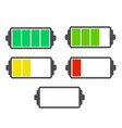 set of battery symbol with different charge vector image