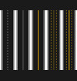 set roads with various white and yellow vector image vector image