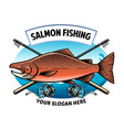 shirt design salmon fishing vector image vector image