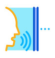 sound coming from person icon outline vector image vector image