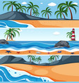 summer sea landscape template vector image