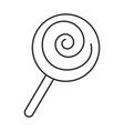 sweet lollipop isolated icon vector image vector image