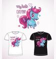 Sweet pony princess little cute cartoon horse