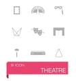 Theatre icon set vector image