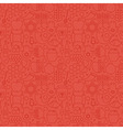 Thin Holiday Line Jewish New Year Red Seamless vector image vector image