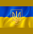 ukraine flag and coat arms vector image
