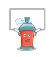 up board aerosol spray can character cartoon vector image vector image