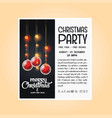vintage christmas party flyer template vector image vector image