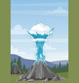 water geyser and steam vector image vector image