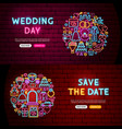 wedding website banners vector image vector image