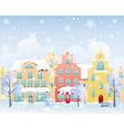 Winter street vector image vector image