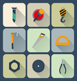Working tools icons set vector image vector image