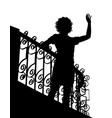 balcony wave silhouette vector image