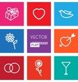 Flat Wedding Icons vector image