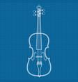 vioin icon blueprint background vector image