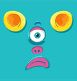 a monster face expression vector image