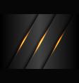 abstract gold lights slash on dark grey metallic vector image vector image