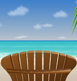 adirondack beach chair vector image