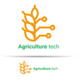 agriculture technology logo template design on vector image