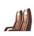 airplane bus or car passenger leather seat vector image vector image