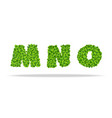 alfavit from the leaves of the clover letters mno vector image vector image