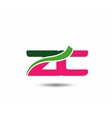 Alphabet Z and C letter logo vector image