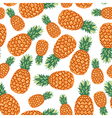 ananas pattern vector image vector image