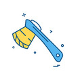 axe icon design vector image vector image