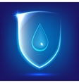 Blue glass shield vector image vector image