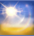 bright sun summer background vector image vector image