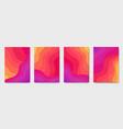 burning flame wavy gradient brochures set of vector image