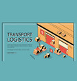 business delivery logistics company website vector image vector image