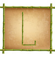 capital letter l made of green bamboo sticks on vector image vector image