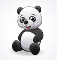 cartoon panda sitting vector image vector image